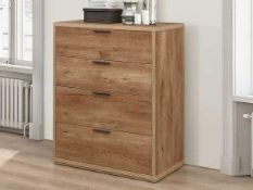 RRP £195 Boxed Natur Pur Clitheroe 4 Drawer Chest Of Drawers