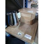 RRP £40 Each Assorted John Lewis Kitchen Items To Include Coffee Press Bread Bin And Chopping Board
