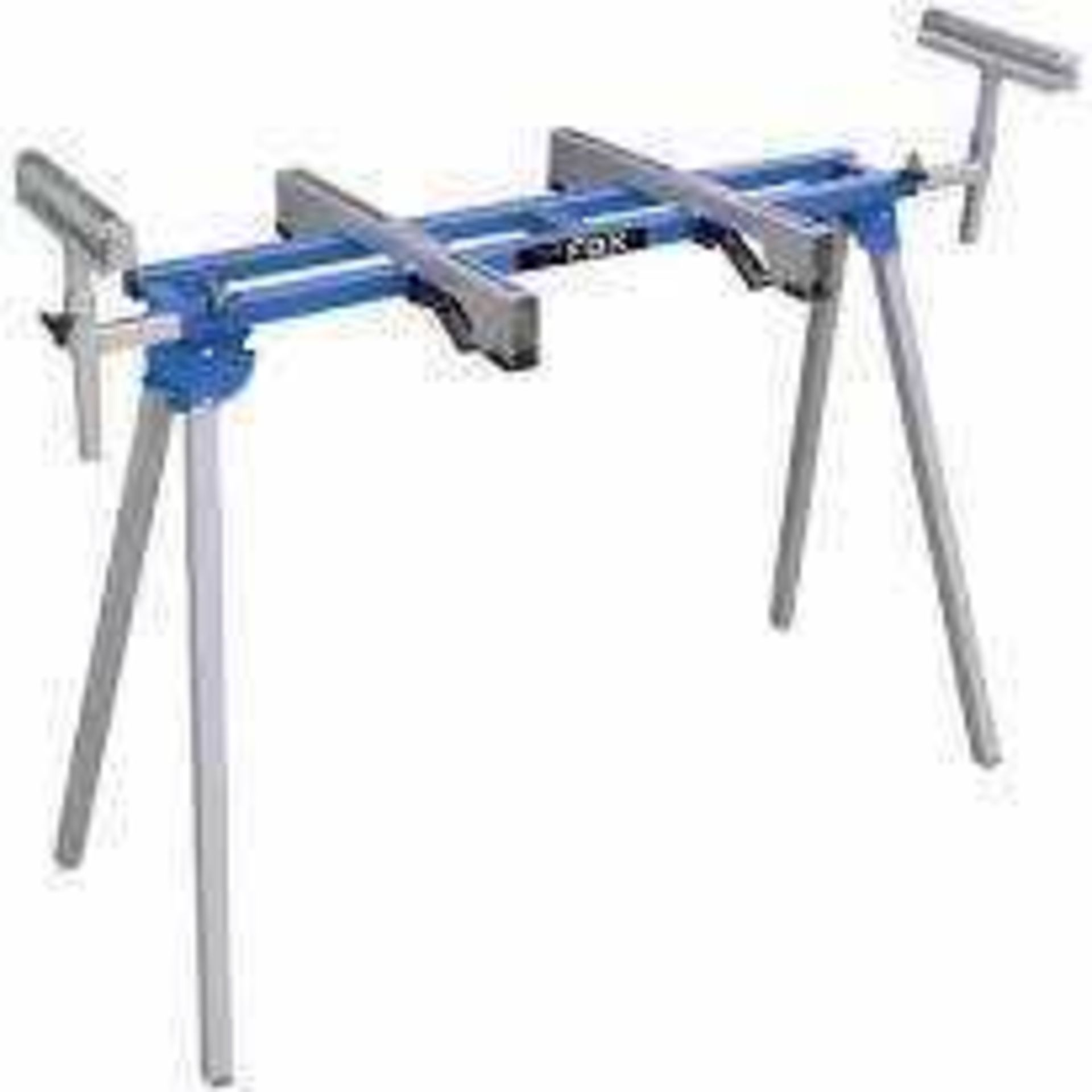 RRP £210 Boxed Fox Universal Portable Work Stand 1970Mm With Transport Strap And Folding Stand