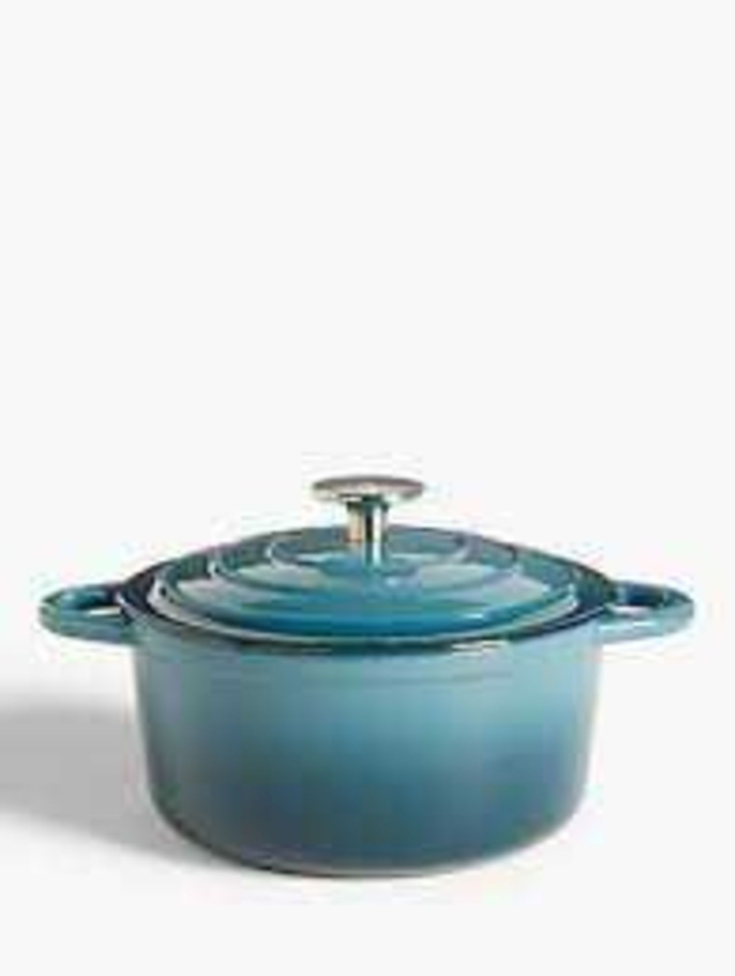 RRP £60 Boxed John Lewis Cast Iron 31Cm Shallow Casserole Dish With Lid