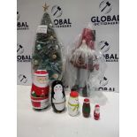 RRP £15 To £25 Each Assorted John Lewis Christmas Decorations To Include Bloomsburg Mini Tree, Santa