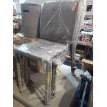 RRP £200 Antonioni Set Of 4 Stacking Designer Garden Chairs In Grey