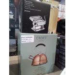 RRP £40 Each Boxed Assorted John Lewis Kitchen Items To Include Croft Collection Copper Plated Kettl