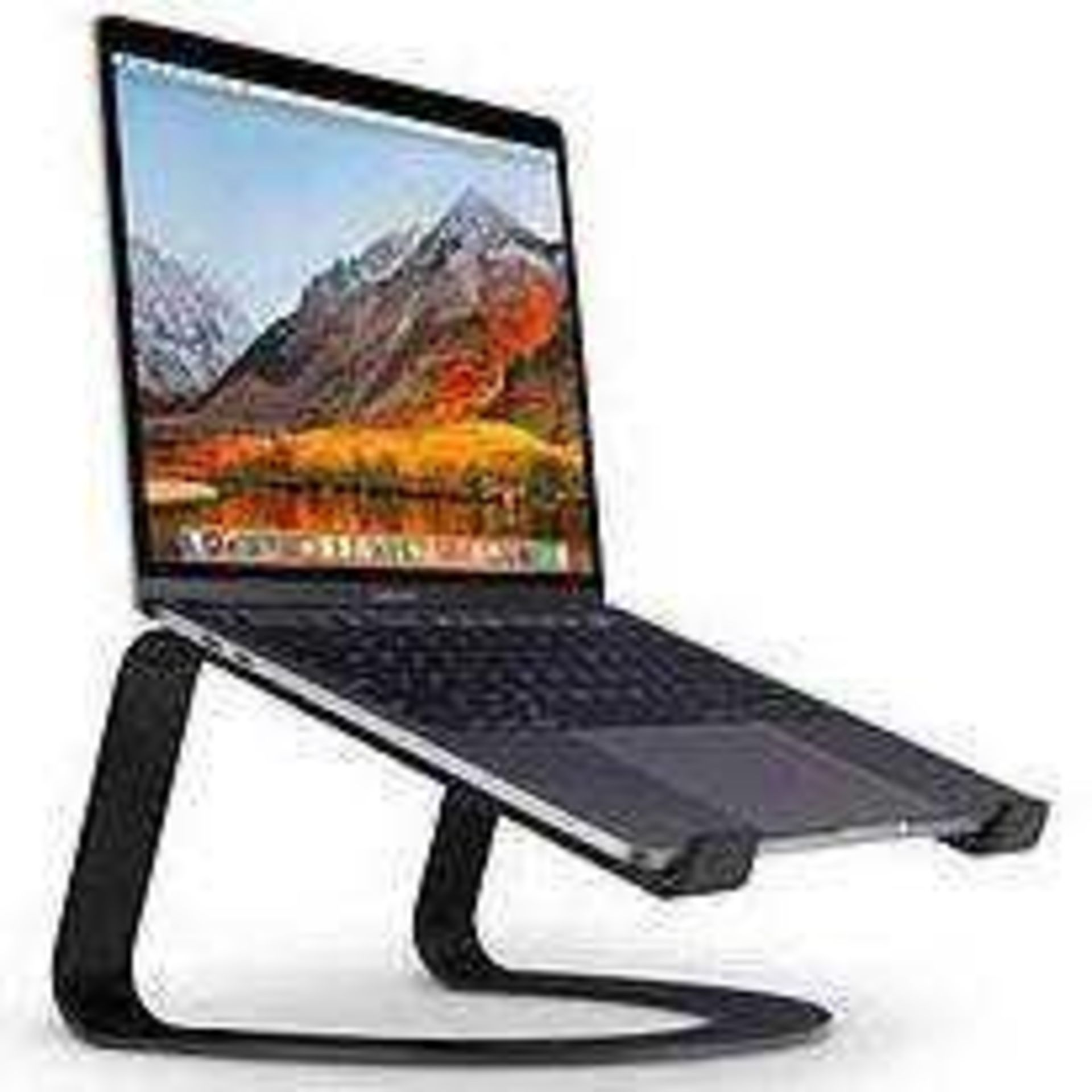 RRP £60 Boxed Curve Desktop Stand For Macbook