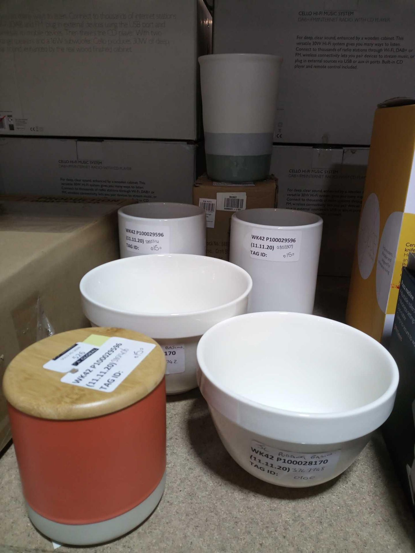 RRP £15 Each Assorted John Lewis Kitchen Items To Include Pudding Basins Utensil Pots Storage Pots