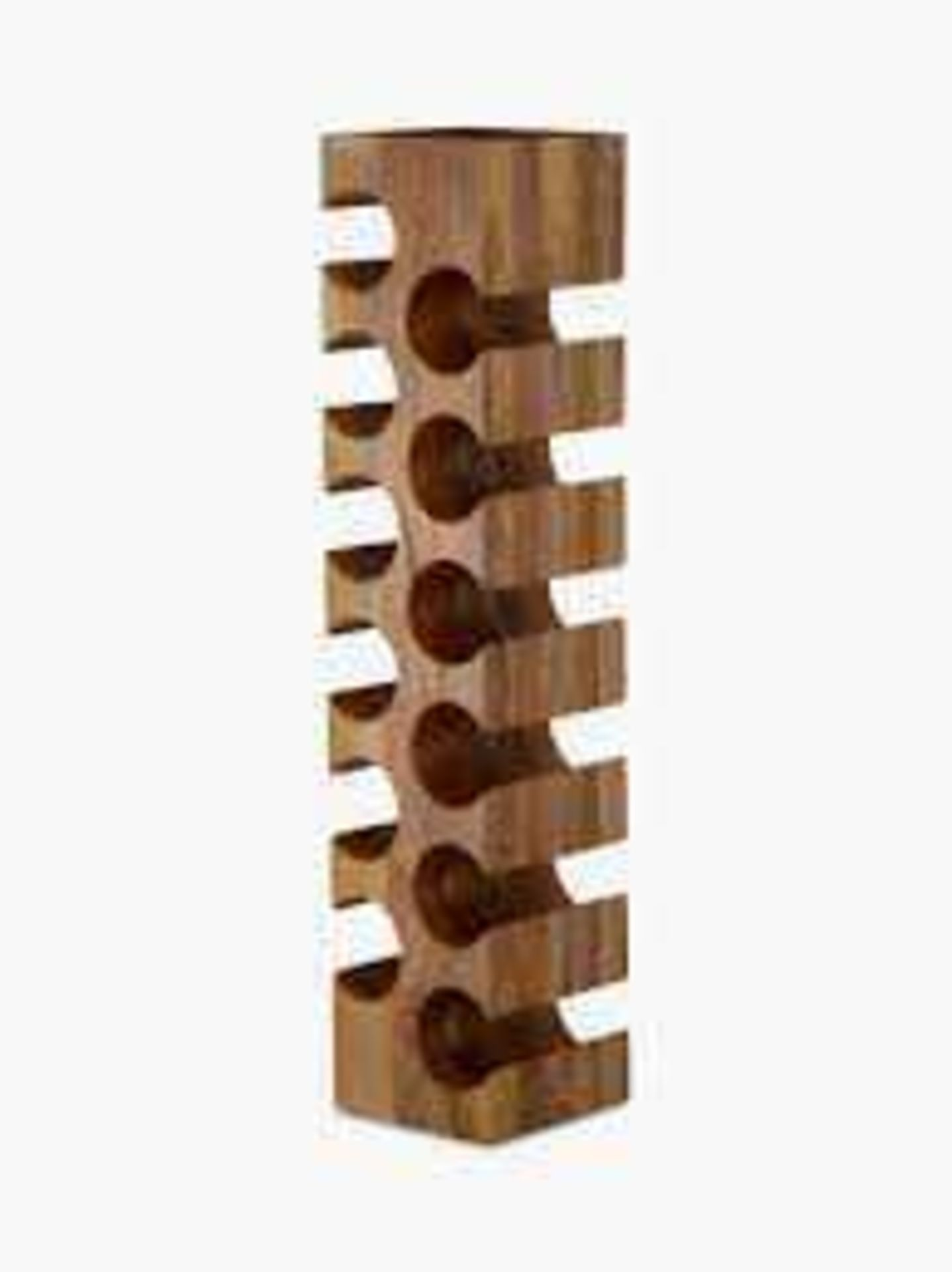RRP £125 John Lewis Solid Wooden Designer Wine Rack 12 Bottle