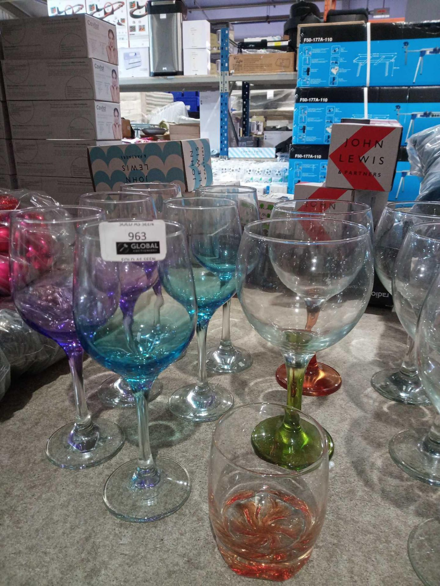 RRP £10 Each Assorted Designer Lav Glassware To Includelarge Wine Glasses Medium Wine Glasses And Wh