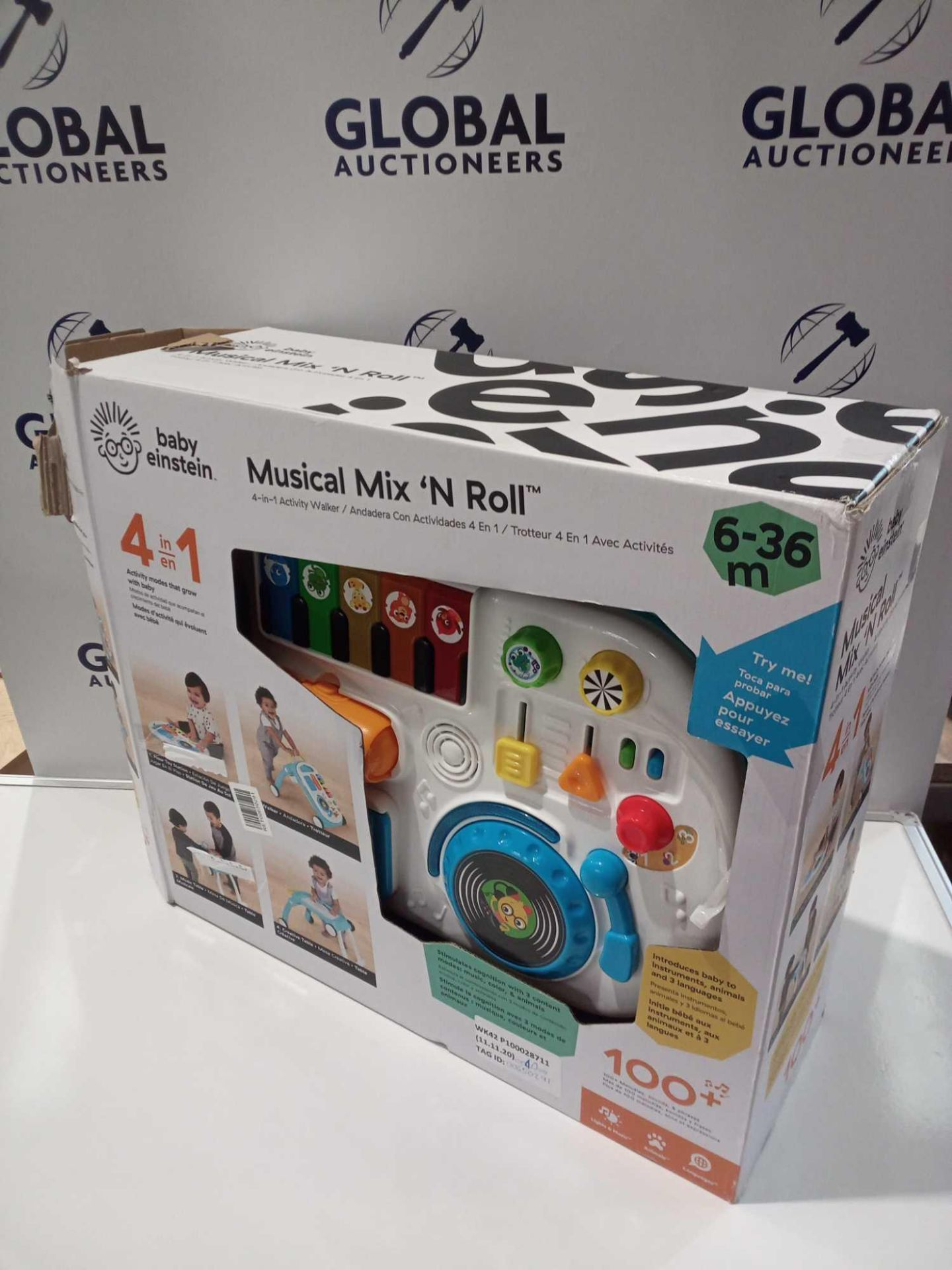 RRP £50 Boxed Baby Einstein Musical Mix And Roll Activity Set