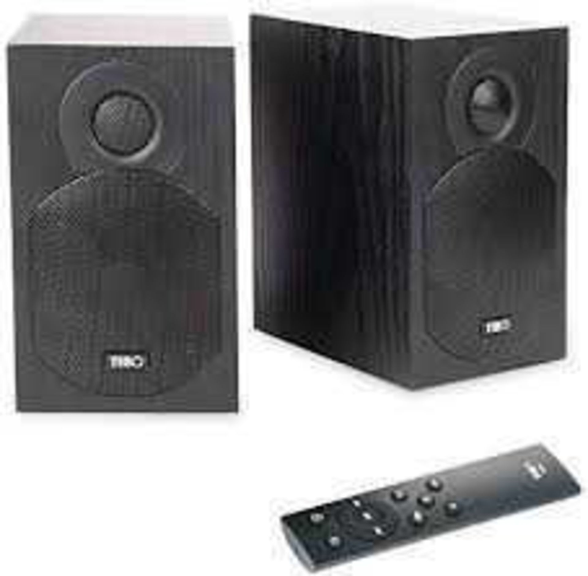 RRP £120 Boxed Tibo Plus 1.1 (Black) Bluetooth Active Speakers - Pair
