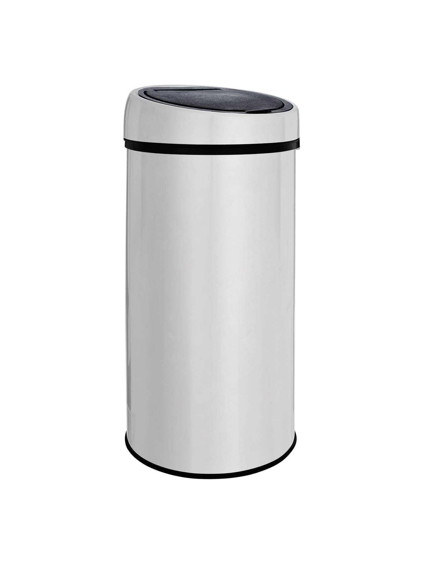 RRP £55 Boxed John Lewis 40L Touch Bin Stainless Steel