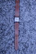 RRP £2240 Hermes H Brown/Silver Stainless Steel Epsom Leather Brown Dial Luxury Watch. Bracelet