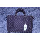 RRP £1,100 Louis Vuitton Speedy 30 Handbag, Dark Brown Canvas Monogram/Idylle Canvas, Dark Brown