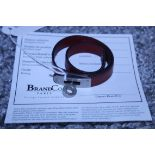 RRP £500 Hermes Kelly Bracelet, Leather Strap, Maroon, 15Cm, Condition Rating Ab (Aan0020)
