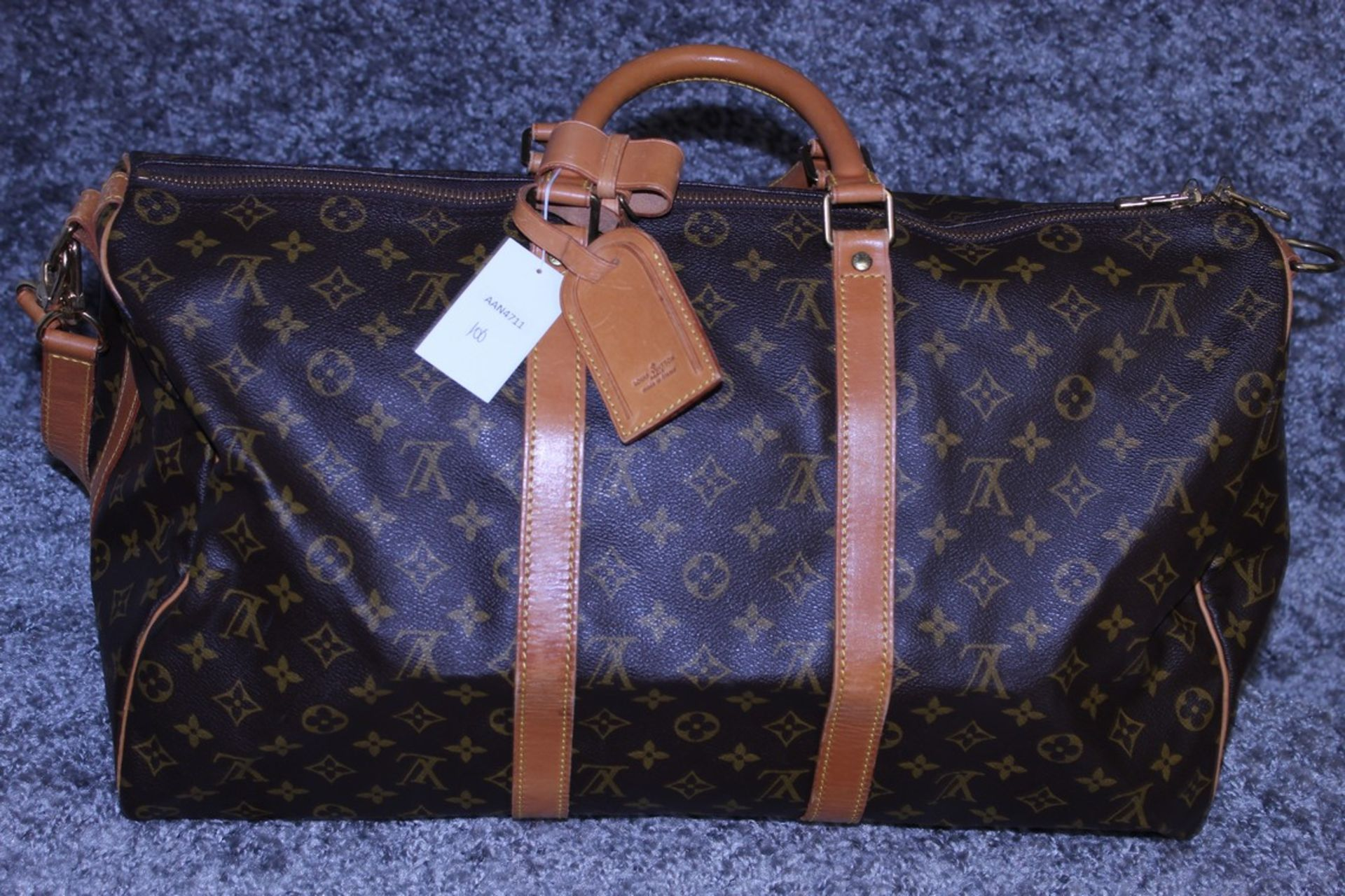 RRP 2,000 Louis Vuitton Keepall 50 Bandouliere Shoulder Bag, Brown Coated Canvas Monogram, - Image 2 of 3