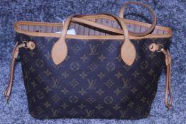 RRP £1,920 Louis Vuitton Neverfull Shoulder Bag, Brown Monogram Coated Canvas, Vachetta Handles,
