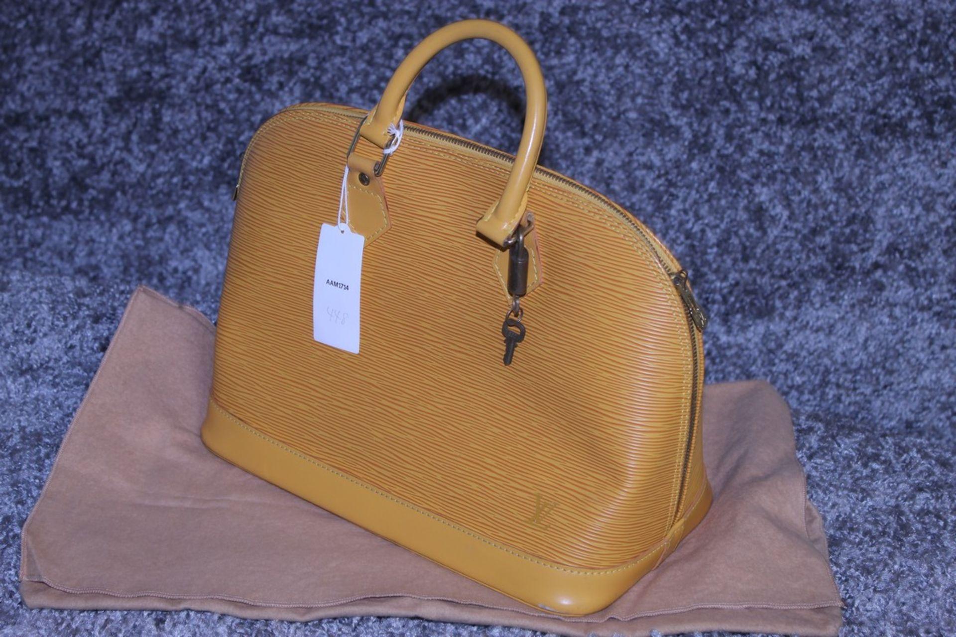 RRP £1,700 Louis Vuitton Alma Yellow Calf Epi Leather Handbag, Complete With Cadena, Keys & Dust Bag - Image 3 of 3