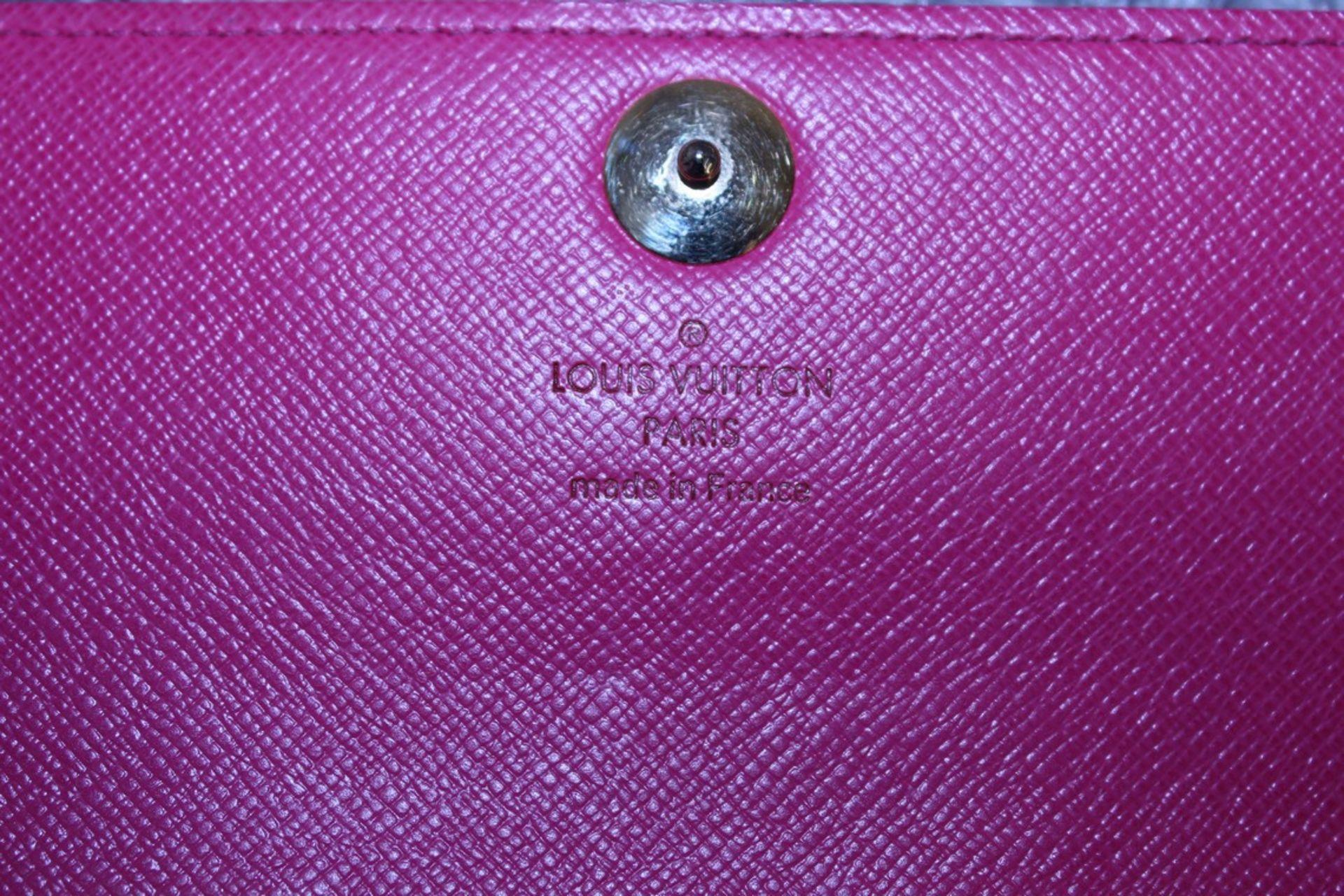 RRP £900 Louis Vuitton Sarah 10 Wallet, Black/Pink Coated Canvas, Multicolour Monogram 19X10X2Cm ( - Image 3 of 3
