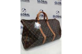 RRP £1200 Louis Vuitton Keepall 50 Green Calf Leather Epi Golden Brass Hardware Travel Bag (
