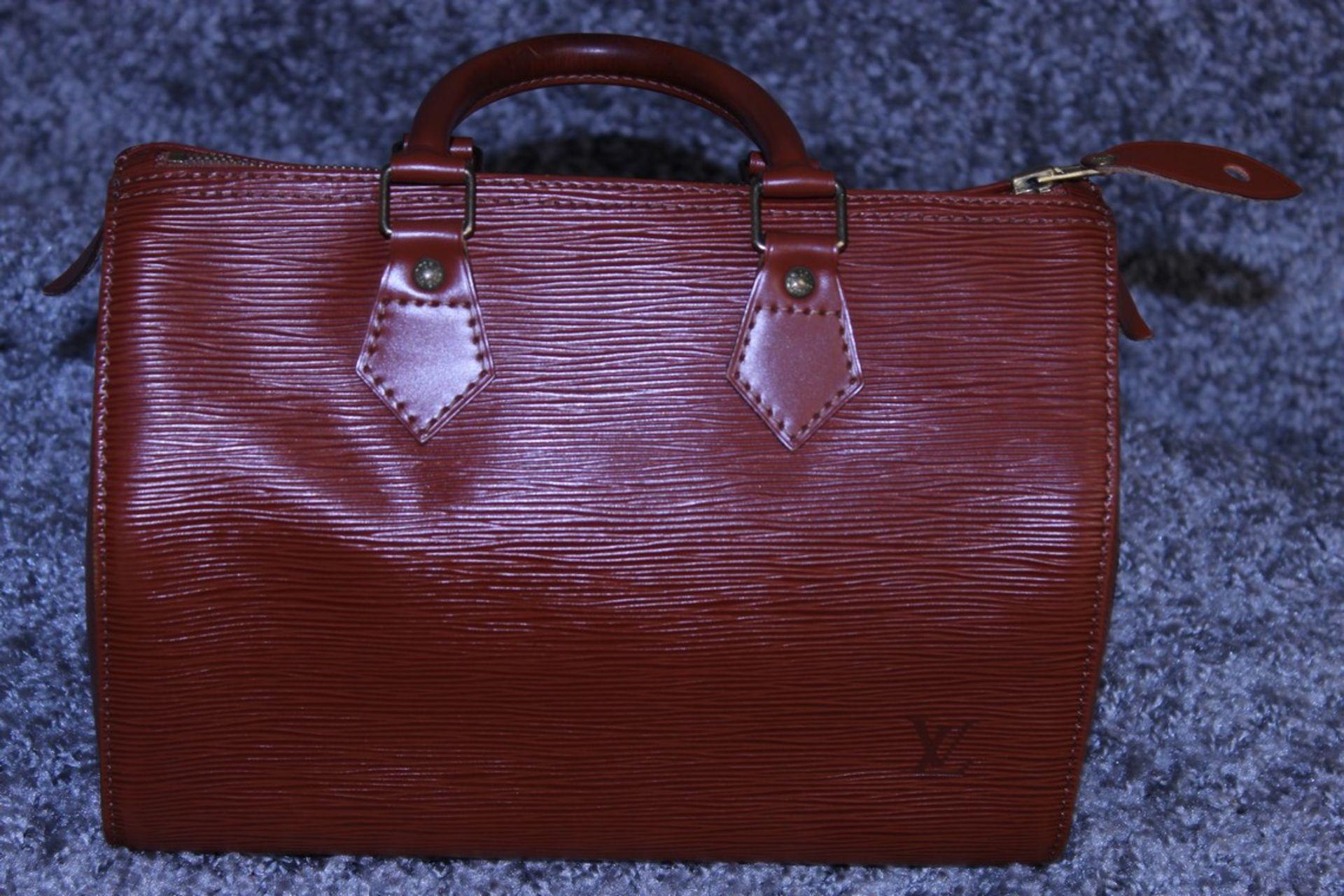 RRP £1,000 Louis Vuitton Speedy 25 Handbag, Tan Epi Calf Leather 27X19X15Cm (Production Code Vi1922) - Image 2 of 3