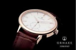 RRP £300. Boxed Ornake Miyota Movement Luxury Timepiece Gold And Black Watch (Upmarket Large Present