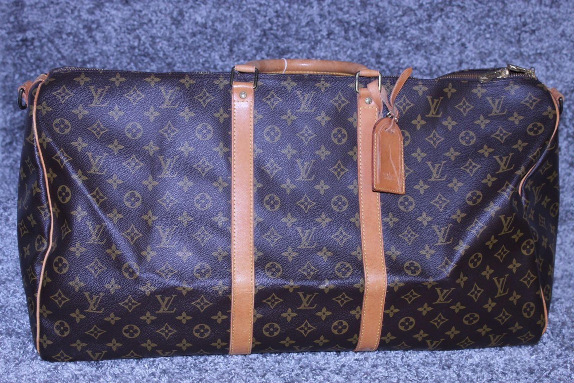 RRP £1,800 Louis Vuitton Keepall 60 Bandouliere Travel Bag, Brown Coated Canvas Monogram, 60X26X31Cm - Image 2 of 3