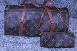 RRP £4200 Louis Vuitton Papillon Handbag In Brown Coated Monogram Canvas. Condition Rating A (