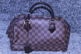 RRP £1,830 Louis Vuitton Duomo Shoulder Bag, Brown Coated Demier Ebene Canvas, 32X22X15Cm (