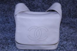 RRP £2,000 Ivory Calf Leather Shoulder Flap Bag (Production Code 5300439) Condition Rating A (