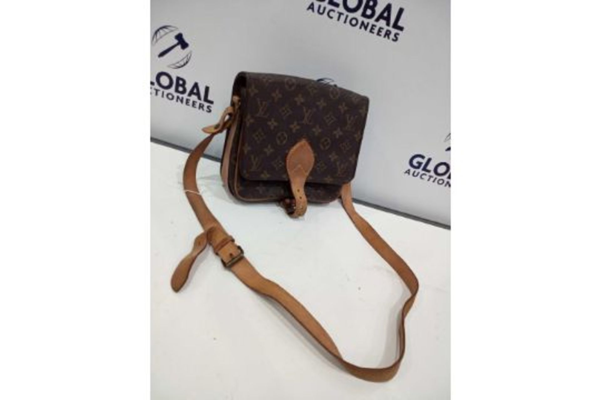 RRP £1200 Louis Vuitton Cartouchiere Mm Brown Coated Monogram Canvas Vachetta Golden Brass - Image 3 of 3