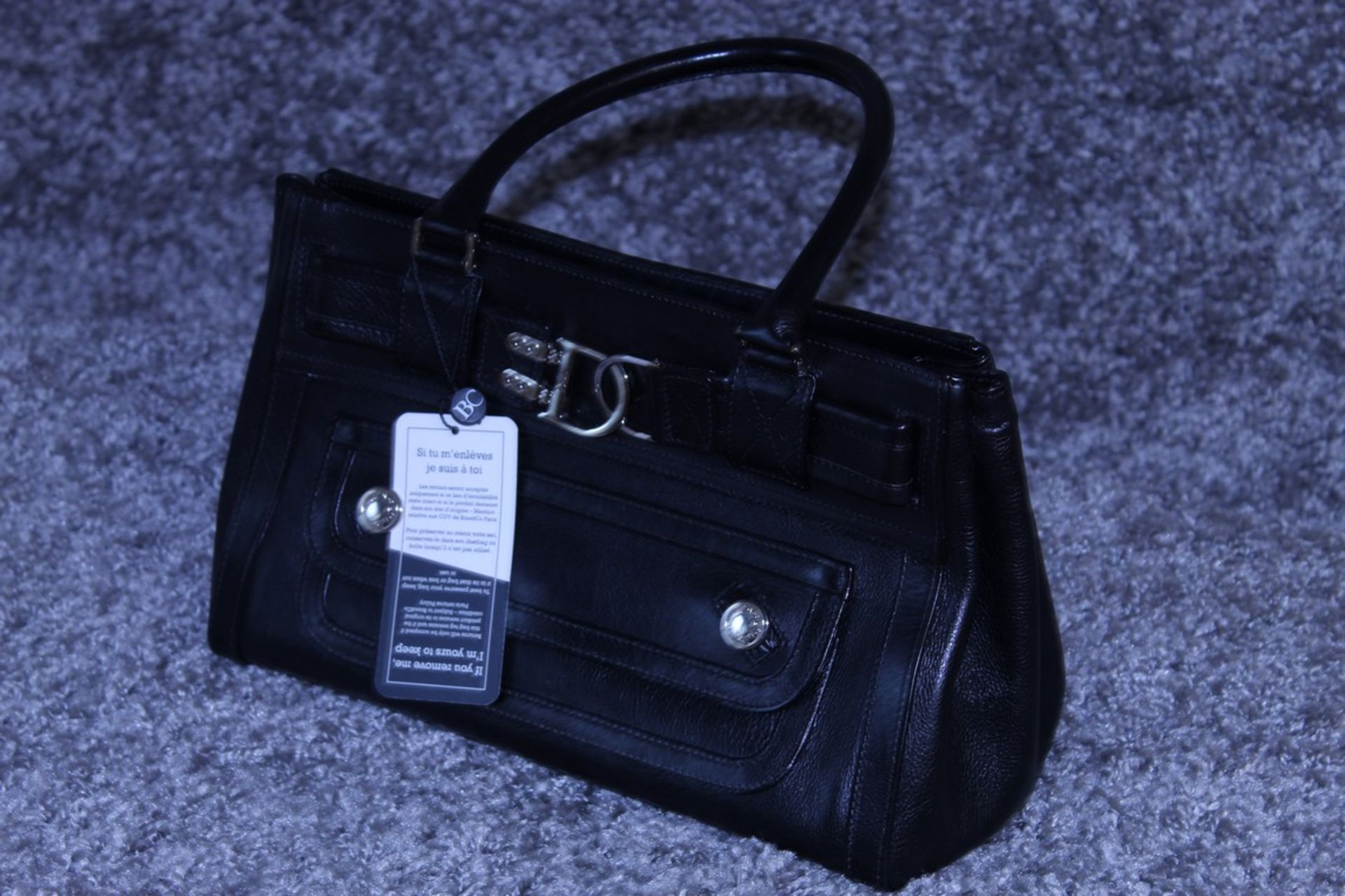 RRP £1300 Dior Interlocking D Belt Handbag In Black Calf Leather With Black Leather Handles. ( - Image 3 of 4