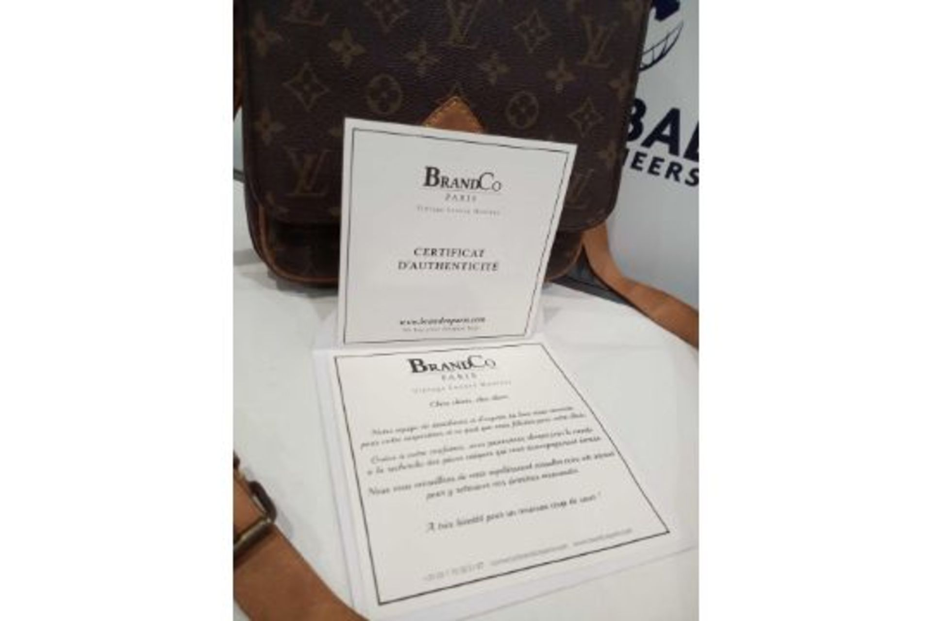 RRP £1200 Louis Vuitton Cartouchiere Mm Brown Coated Monogram Canvas Vachetta Golden Brass - Image 2 of 3