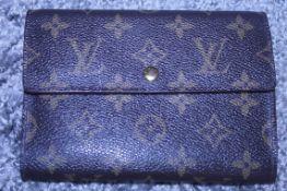 RRP £600 Louis Vuitton Porte-Tresor Etui Papier Wallet, Brown Monogram Coated Canvas, 16X11X5Cm (