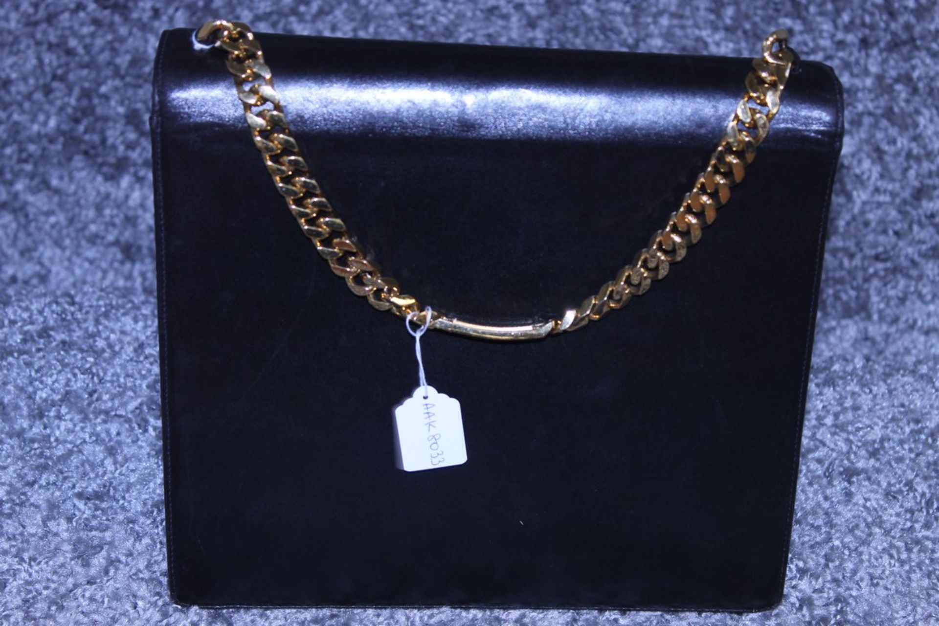 RRP £2000 Chanel Tall Logo Flap Chain Tote Shoulder Bag In Black Leather With Gold Chain Handles - Image 2 of 3
