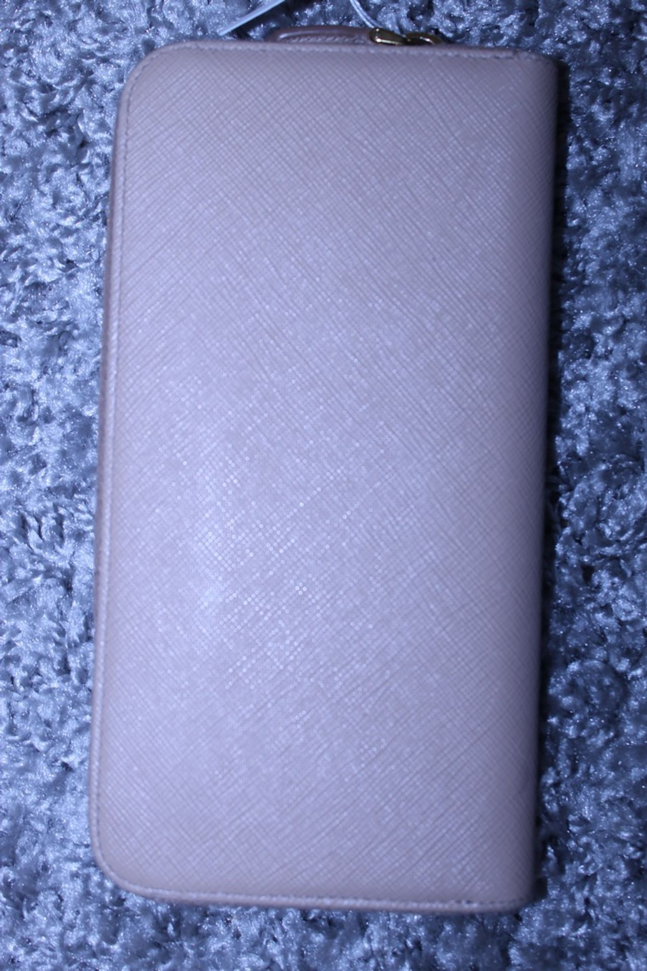 RRP £590 Prada Continental Wallet, Beige Saffiano Leather, 20X10Cm (Production Code 107D) - Image 2 of 3