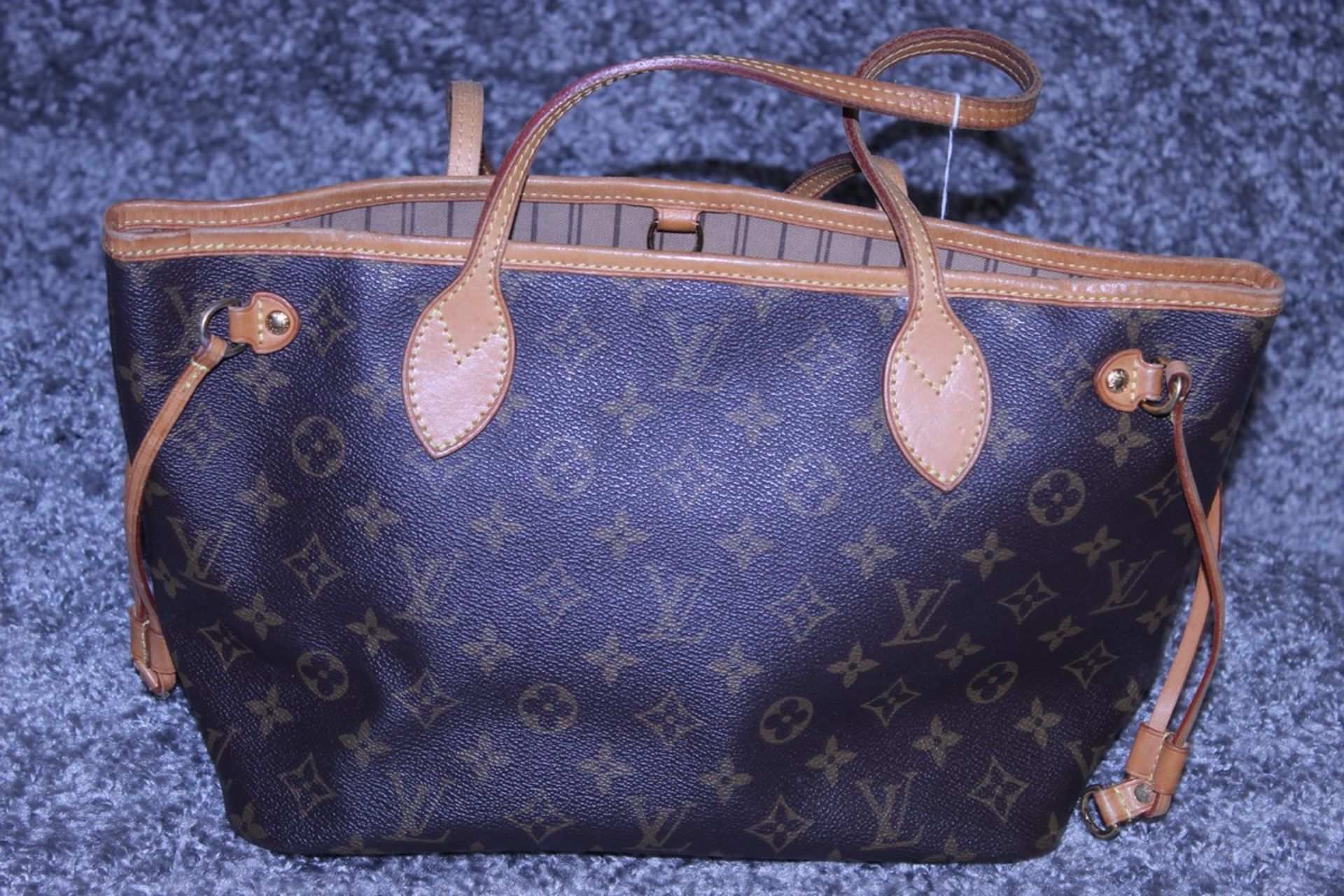 RRP £1,500 Louis Vuitton Neverfull Shoulder Bag, Brown Coated Monogram Canvas, 29X22X13Cm, ( - Image 2 of 3