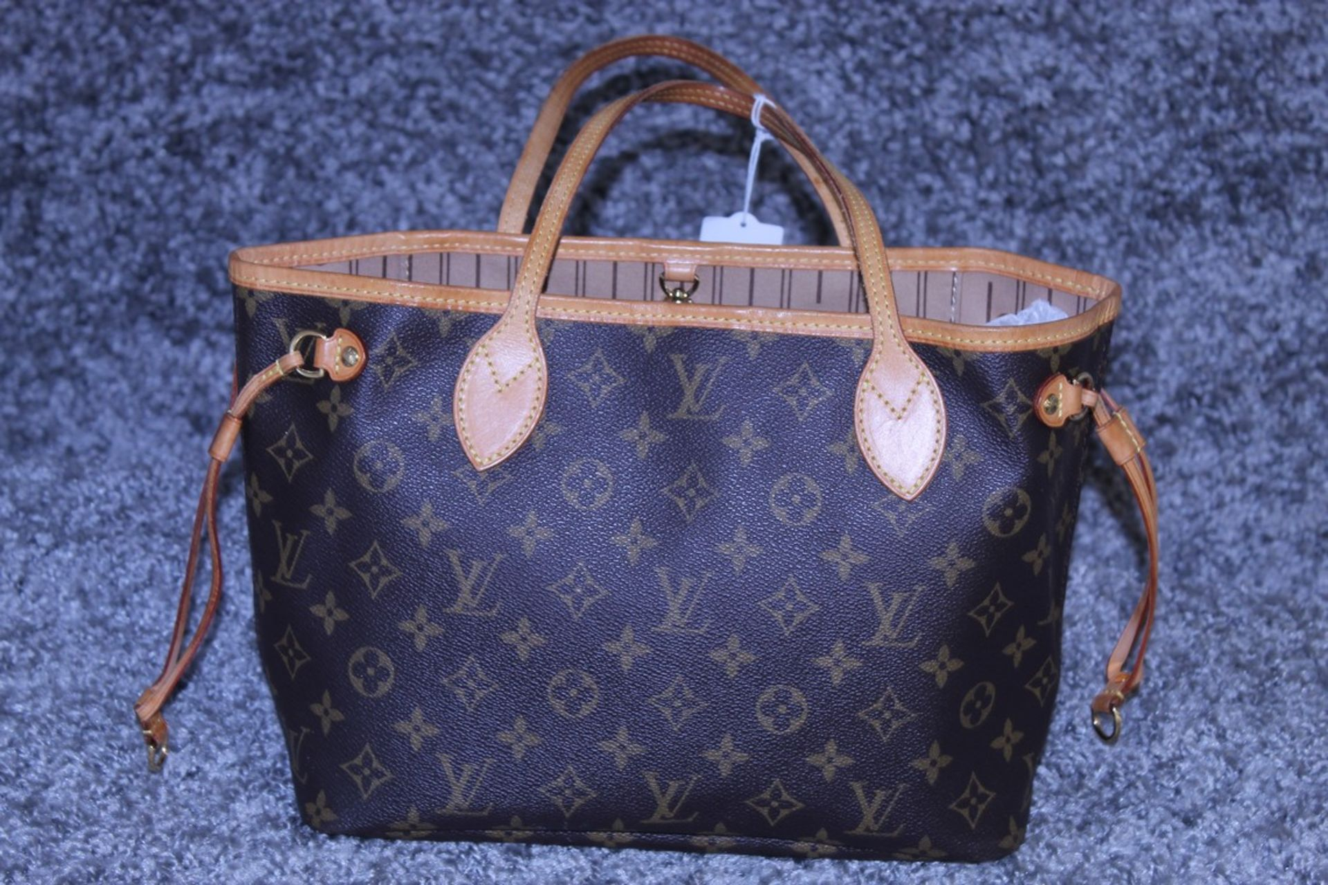 RRP £1500 Louis Vuitton Neverfull Handbag In Brown Coated Monogram Canvas With Vachetta Handle ( - Image 2 of 3