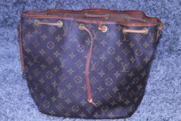 RRP £1200 Louis Vuitton Noe Shoulder Bag In Brown Coated Monogram Canvas. Condition Rating B (
