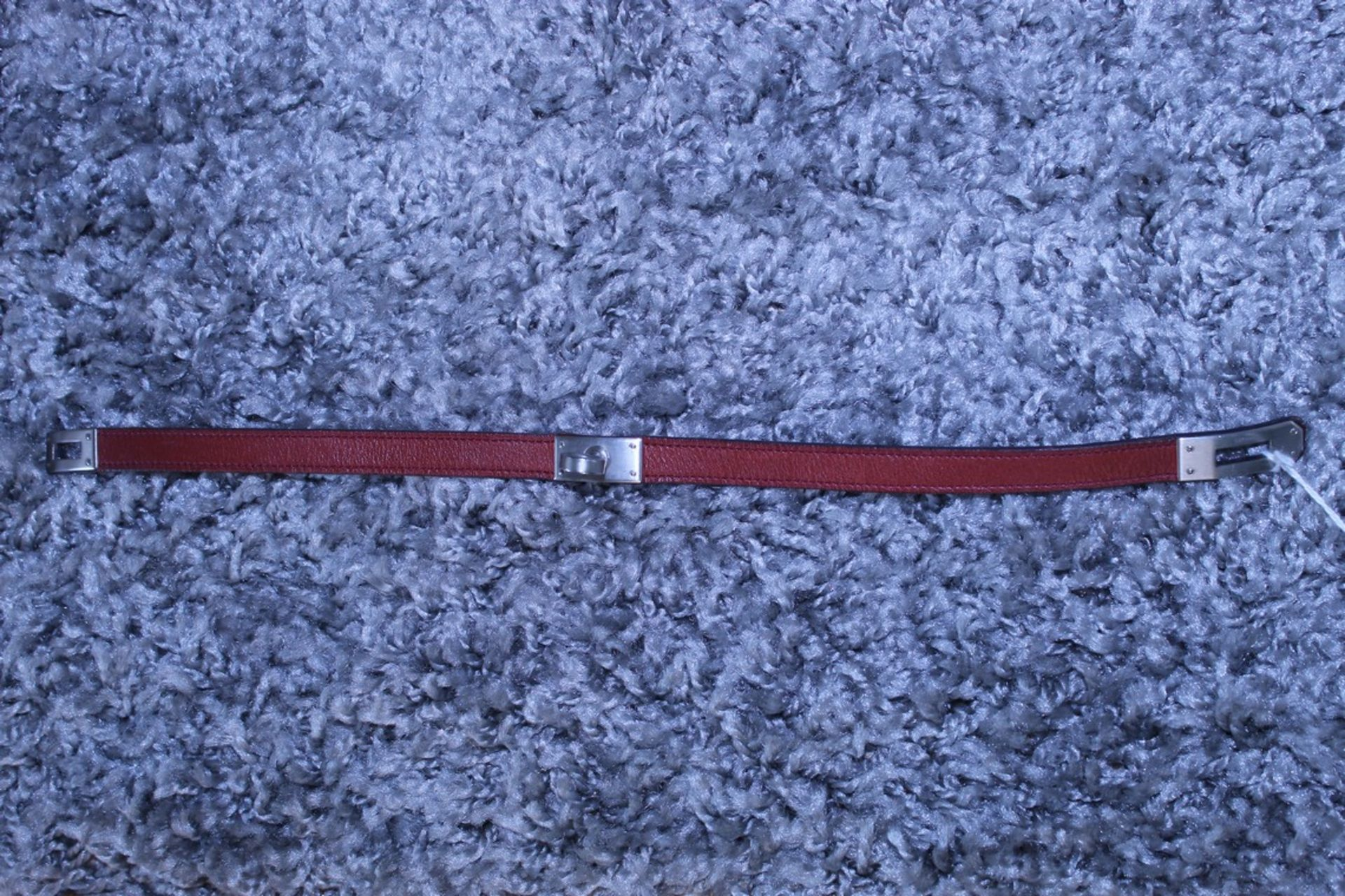 RRP £500 Hermes Kelly Bracelet, Leather Strap, Maroon, 15Cm, Condition Rating Ab (Aan0020) - Image 2 of 3