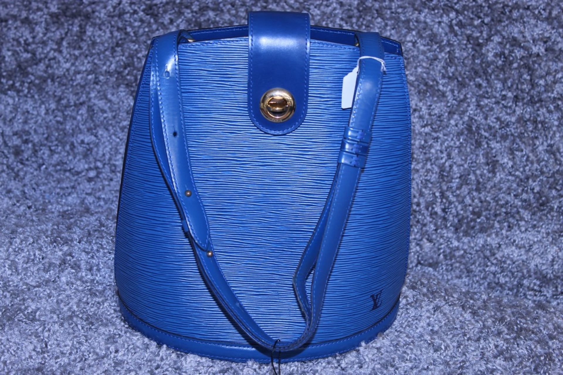 RRP £1,500 Louis Vuitton Cluny Blue Calf Leather Shoulder Bag With Blue Leather Handles, - Image 2 of 3