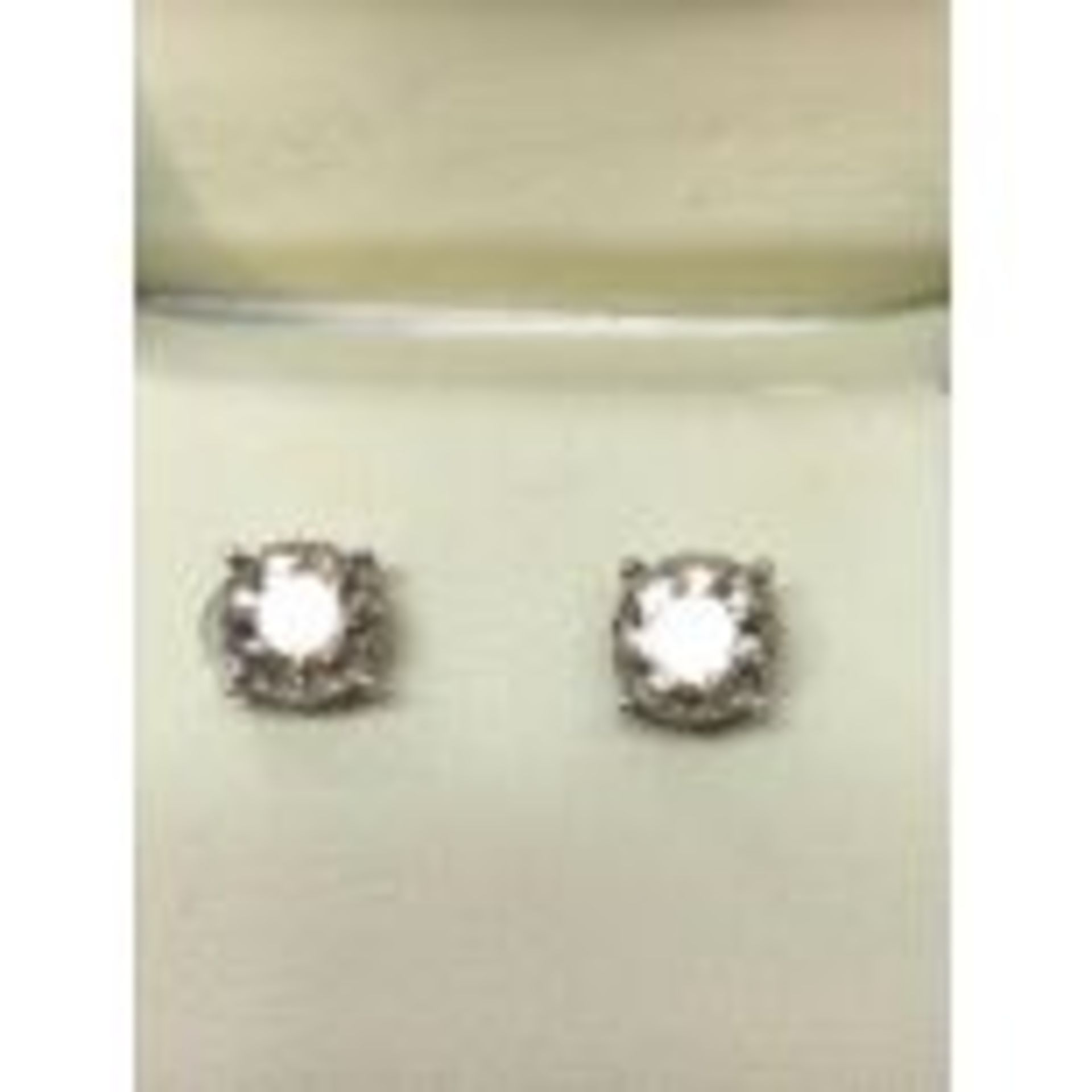 RRP £8,950 18 Carat White Gold Solitaire Diamond Solitaire Earrings, Total Stone Weight 2.06Ct, K