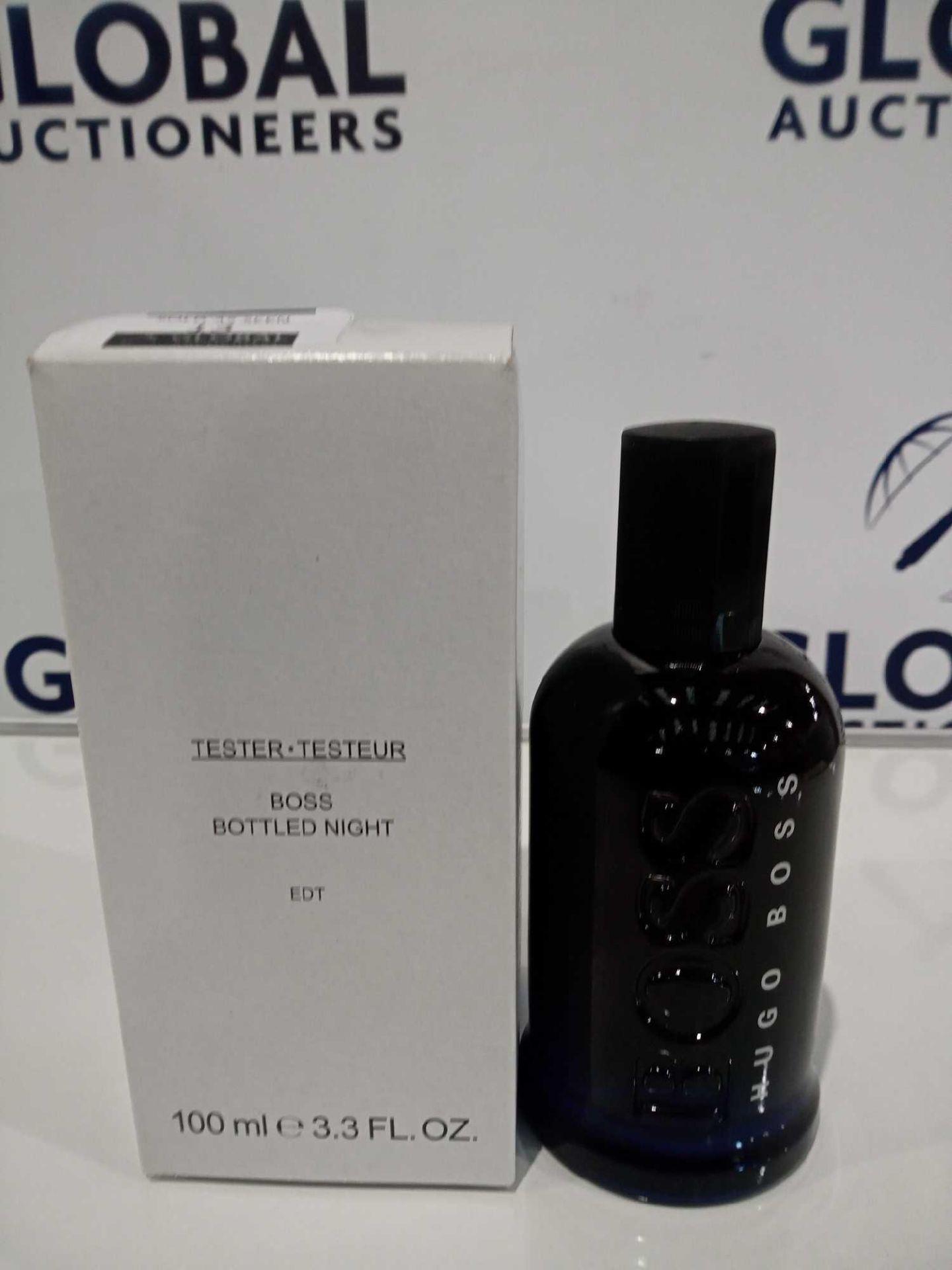 RRP £40 Boxed Brand New Full Tester Bottle Of Hugo Boss 100Ml Night Eau De Toilette