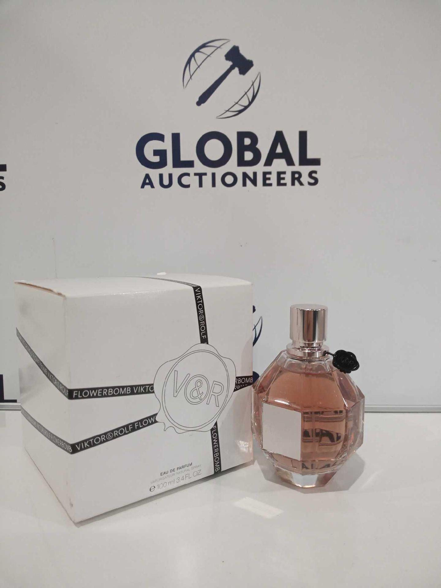 RRP £80 Boxed Brand New Full Tester Bottle Of Viktor Flowerbomb Eau De Parfum 100Ml