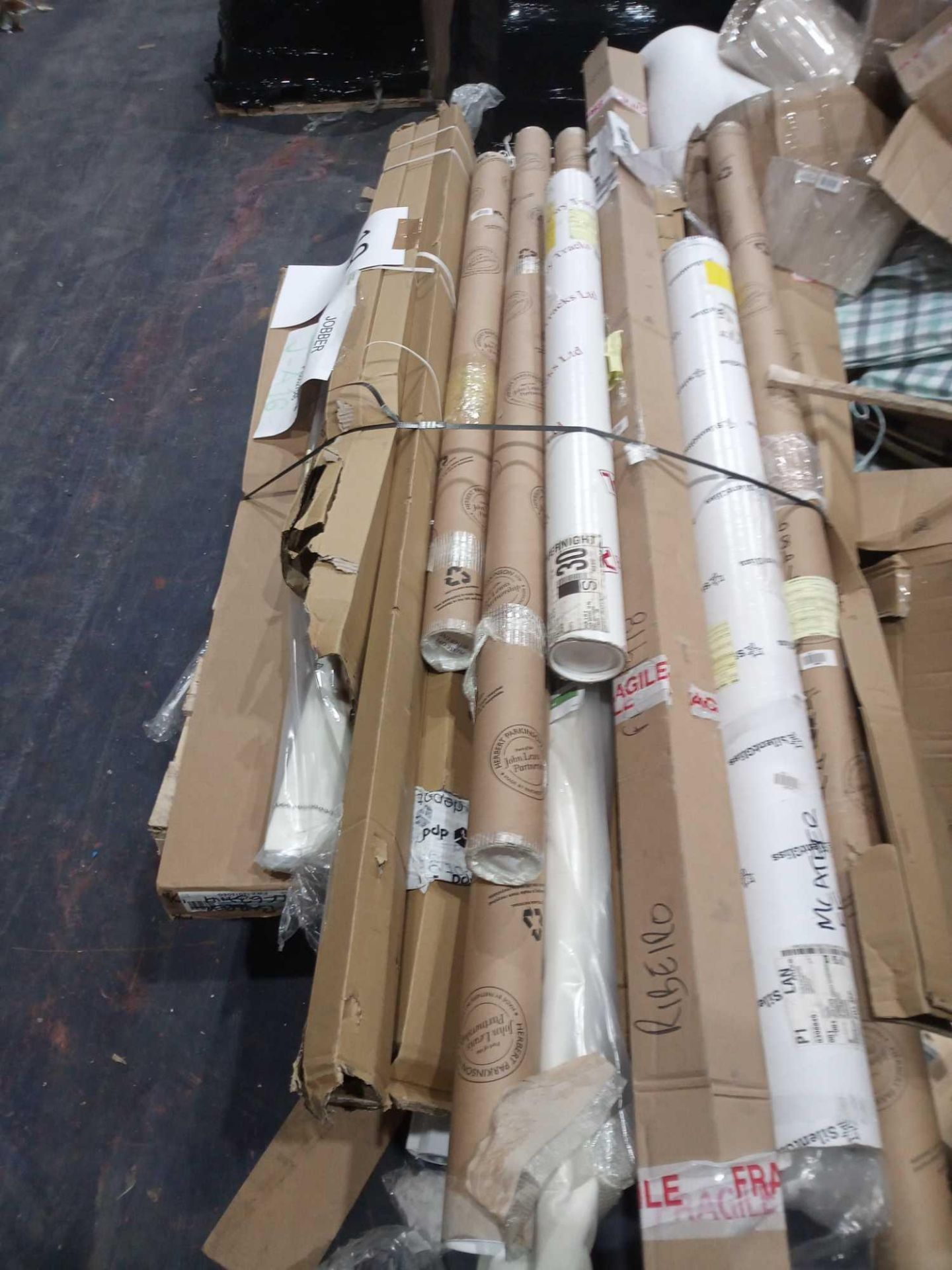 Pallet To Contain An Assortment Of Johnlewis And Partners Roller Blinds And Blinds