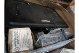 Pallet To Contain A Large Assortment Of Mixed Stock To Include Philips Tv, Batteries, Dell Screens,