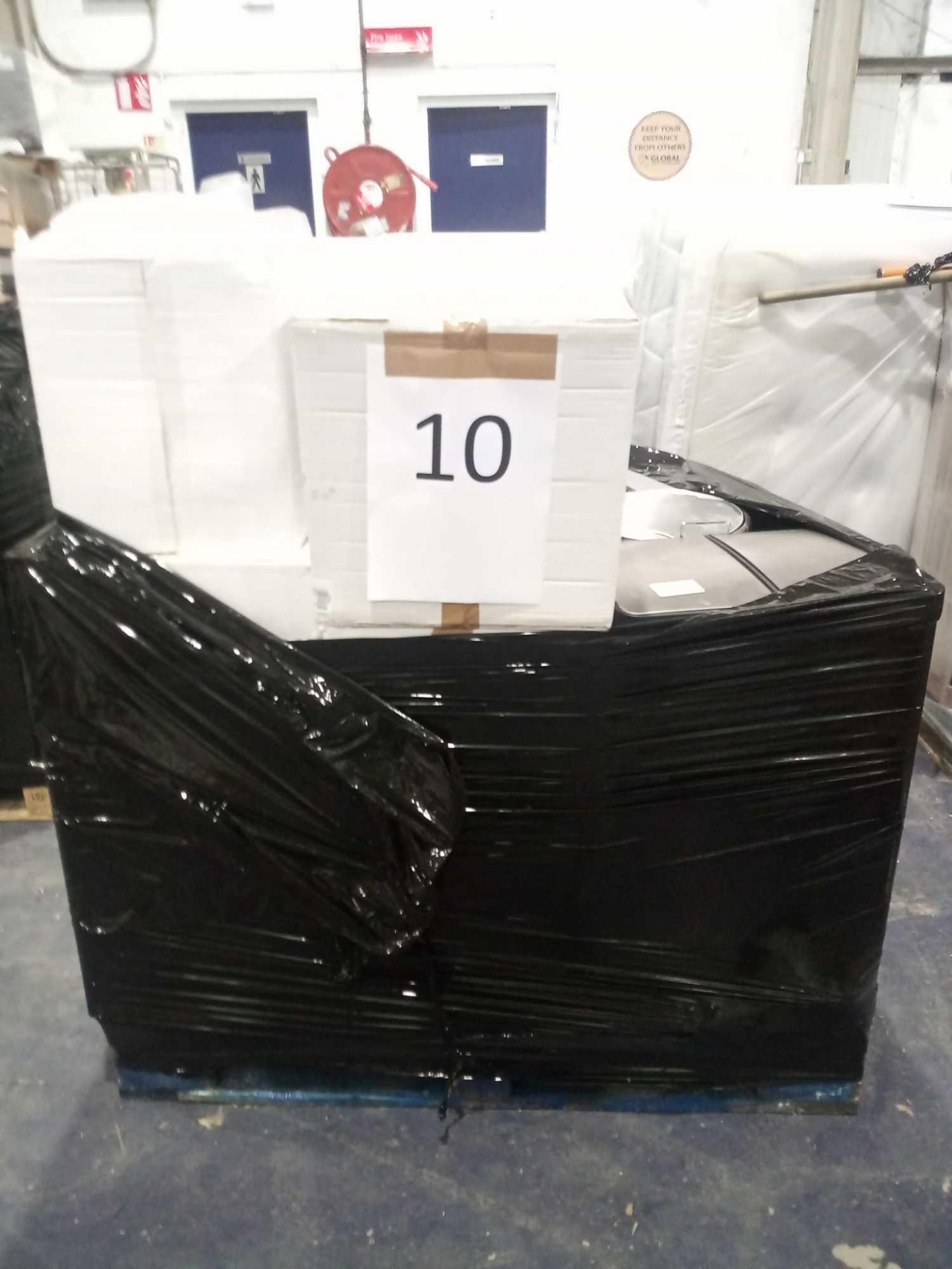 Pallet To Include 11 Boxed And Unboxed John Lewis Push Top Bins, 2-Section Pedal Push Bins In Assort