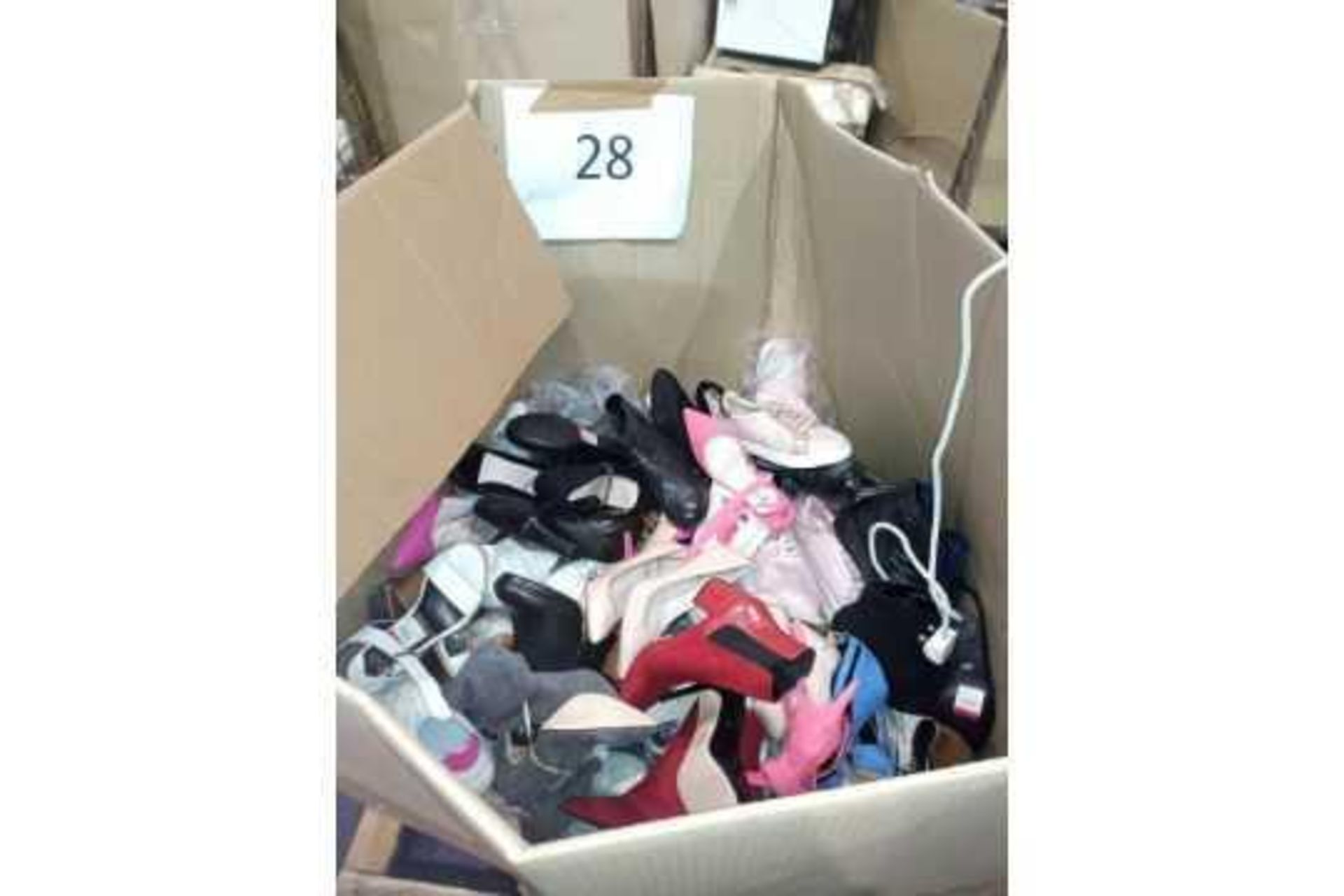 Pallet To Contain A Large Assortment Of Debenhams Ladies Heels, Shoes, Trainers In Assorted Sizes St