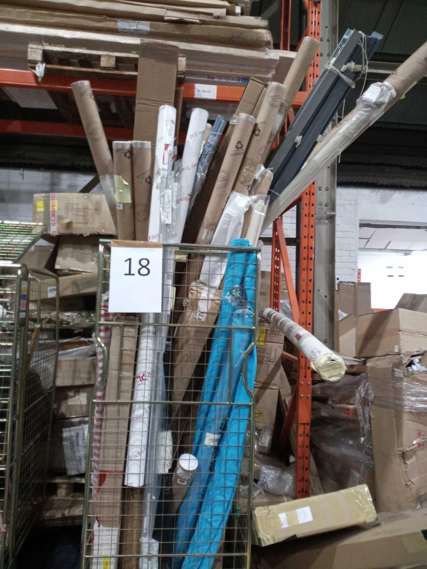 Pallet To Contain A Large Assortment Of John Lewis And Partners Roller Blinds And Blinds