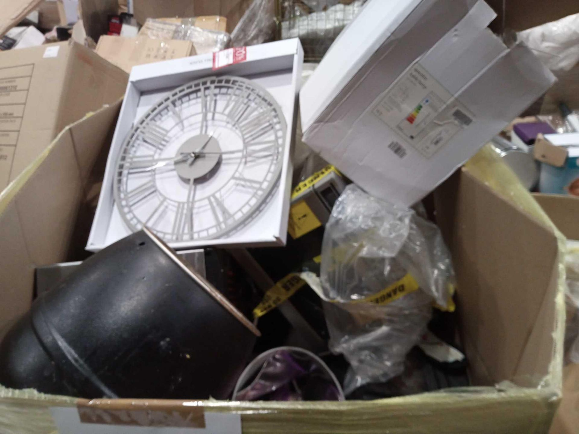 Pallet To Contain Mixed Stock To Include Microwaves Toasters, Hoovers, Unboxed And Boxed Lighting, W - Image 3 of 3