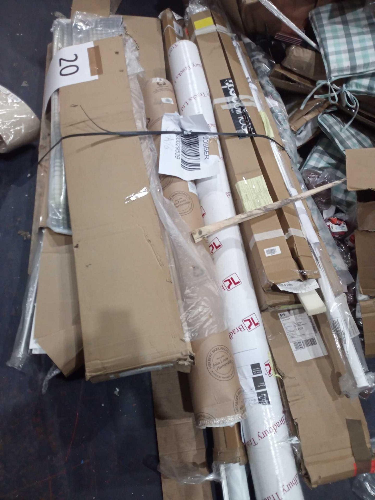 Pallet To Contain An Assortment Of John Lewis Roller Blinds And Blinds