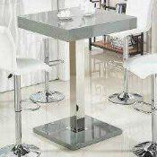 RRP £250 Boxed Topaz Grey High Gloss Bar Table